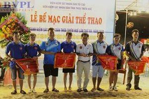 Bế mạc Giải thể thao chào mừng 60 năm thành lập ngành của VKSND Thừa Thiên - Huế