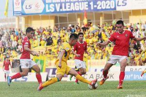 SLNA bị Hồng Lĩnh Hà Tĩnh chia điểm trong trận trận 'Derby xứ Nghệ'