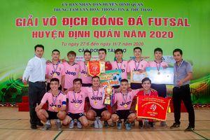 X. Phú Hòa vô địch Giải vô địch futsal H.Định Quán 2020