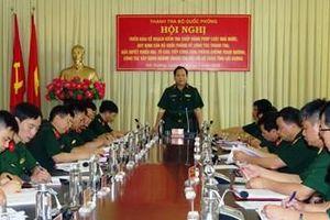 Thanh tra Bộ Quốc phòng làm việc với Bộ CHQS tỉnh Hải Dương