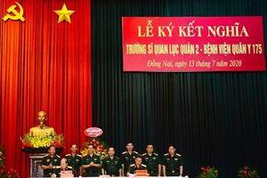 Trường Sĩ quan Lục quân 2 và Bệnh viện Quân y 175 ký kết phối hợp hoạt động