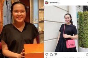 Nhan sắc khác biệt giữa hình ảnh tự đăng và hình được chụp của Quỳnh Anh