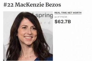 Tài sản vợ cũ tỷ phú Jeff Bezos tăng gần gấp đôi sau 1 năm ly hôn