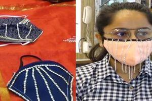 Khẩu trang đính kim cương giá nghìn 'đô' hút khách tại Ấn Độ