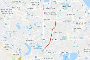 Hà Nội tổ chức lại giao thông phố Trương Định phục vụ dự án Vành đai 2 trên cao