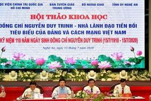 Kỷ niệm 110 năm ngày sinh cố Phó Thủ tướng, Bộ trưởng Ngoại giao Nguyễn Duy Trinh