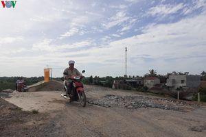 Đê sông Chu ở Thanh Hóa vừa nâng cấp đã hỏng