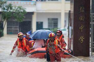 6,4 triệu người ở Giang Tây (Trung Quốc) oằn mình chống chọi mưa lũ