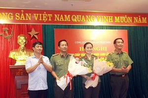 Trung tá Công Thanh Thảo được bầu giữ chức vụ Chủ tịch Công đoàn CAND