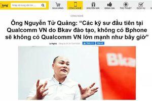 BKAV sẽ khởi kiện trang tin cắt xén phát biểu CEO Nguyễn Tử Quảng