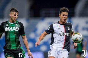 Ronaldo đứt chuỗi trận ghi bàn liên tiếp, Juventus hòa hú vía Sassuolo