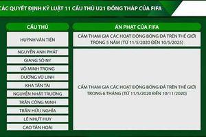 11 cầu thủ trẻ Đồng Tháp bị cấm thi đấu trong 5 năm