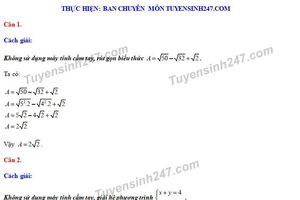 Đáp án đề thi môn Toán tuyển sinh lớp 10 vào THPT tỉnh Thái Nguyên năm 2020