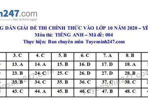 Đáp án đề thi Anh văn tuyển sinh lớp 10 vào THPT tỉnh Yên Bái năm 2020