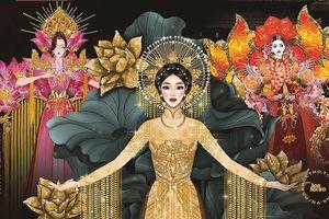Khát vọng vươn cao tới… vô cực xuất hiện trong Trang phục Dân tộc của Miss Universe 2020