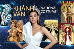 Chủ nhân National Costume Nàng Mây thiết kế váy tàu điện Metro cho Khánh Vân: Cổng trường cũng thành trang phục cực chất