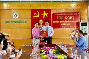 Trao quyết định bổ nhiệm chức danh Phó Giám đốc BQL Vườn Quốc gia Bái Tử Long