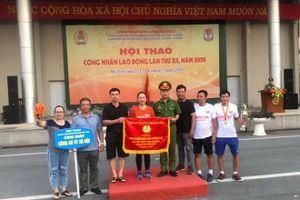 Công đoàn Công an Hà Nội giành nhất toàn đoàn Hội thao công nhân lao động CAND