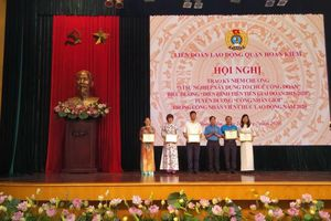 LĐLĐ quận Hoàn Kiếm biểu dương 49 tập thể, 70 cá nhân điển hình tiên tiến giai đoạn 2015-2020
