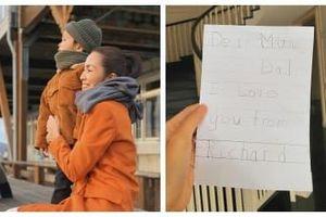 Mới 5 tuổi, con trai Hà Tăng đã biết viết thư bằng tiếng Anh gửi bố mẹ