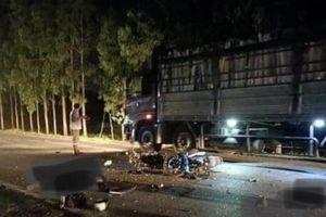 Hai xe máy đấu đầu trong đêm, hai người tử vong tại chỗ