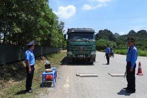Hòa Bình: TTGT xử lý xe chở quá tải trọng gần 200%
