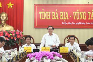 Đoàn công tác của Thủ tướng Chính phủ về kiểm tra công vụ làm việc với UBND tỉnh