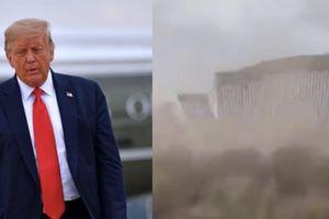 Thực hư bão đánh sập tường biên giới 'không thể phá hủy' của ông Trump?