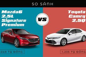 Sedan phân khúc D: Song đấu Toyota Camry và Mazda 6