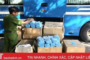 Hà Tĩnh bắt ô tô vận chuyển 72.000 khẩu trang y tế không rõ nguồn gốc