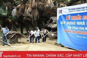 Xăng dầu Hà Tĩnh hỗ trợ 200 triệu đồng xây nhà cho hộ nghèo