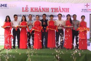 Đóng điện công trình điện Mặt Trời mái nhà lớn nhất Quảng Bình
