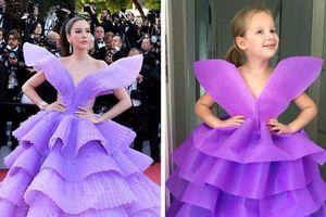 Bà mẹ tái hiện lại váy của sao Hollywood bằng túi giấy, bút màu lộng lẫy hơn cả bản chính
