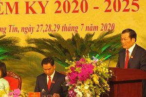 Đồng chí Nguyễn Tiến Minh tiếp tục được bầu giữ chức Bí thư Huyện ủy Thường Tín khóa XXIV