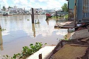 Cần Thơ: Thêm vụ sạt lở bờ sông Trà Nóc khi chờ kinh phí làm kè