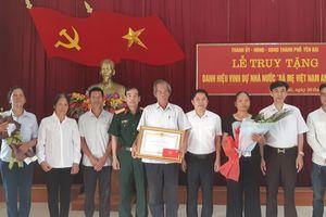 Truy tặng danh hiệu Bà mẹ Việt Nam Anh hùng cho Mẹ Lê Thị Nuôi