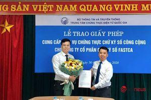 Việt Nam có nhà cung cấp dịch vụ chứng thực chữ ký số công cộng thứ 16