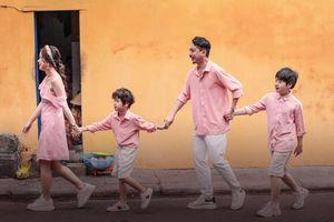 Đám cưới Thiếc trọn 10 năm, Lâm Vỹ Dạ - Hứa Minh Đạt hạnh phúc bên 2 nhóc tì trong bộ ảnh mới
