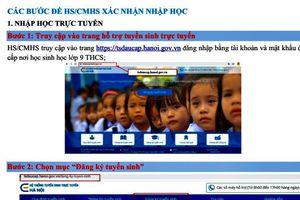 Xác nhận nhập học vào lớp 10 công lập năm học 2020-2021 tại Hà Nội