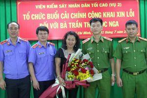 Viện KSND Tối cao xin lỗi công khai luật gia Trần Thị Ngọc Nga