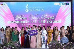 Ca sĩ Phương Nhạc nhận giải Hoa khôi Áo dài tại Gala Tôn vinh Hoa khôi Doanh nhân Sắc Tâm Tài 2020