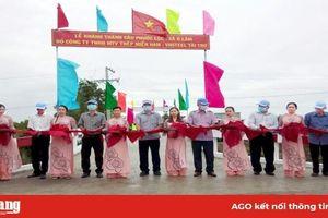 Thêm cây cầu nông thôn cho xã Ô Lâm