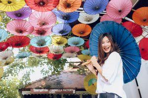 'Làng ô dù' đầy màu sắc nổi tiếng ở Thái Lan