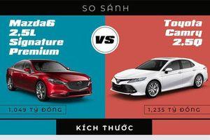 So sánh Toyota Camry với Mazda 6: Chọn sedan hạng D nào phù hợp?