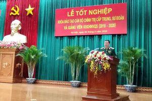 Học viện Chính trị tổ chức Lễ tốt nghiệp khóa đào tạo cán bộ chính trị cấp trung, sư đoàn