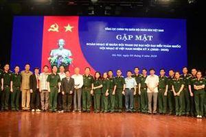 Gặp mặt đại biểu quân đội đi dự Đại hội đại biểu toàn quốc Hội Nhạc sĩ Việt Nam