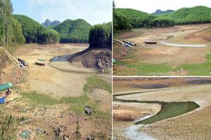 Sau mưa, nhiều hồ đập ở Nghệ An vẫn trơ đáy