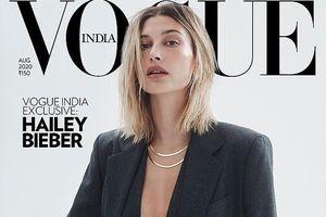 Vợ Justin Bieber buông áo hờ hững, tái xuất nóng bỏng trên bìa tạp chí
