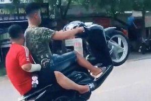 Xử phạt nam thanh niên lên mạng xã hội khoe bốc đầu xe máy