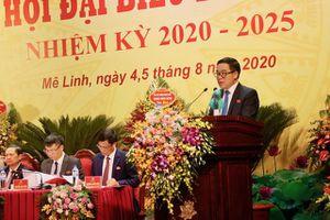 Ông Đỗ Đình Hồng tiếp tục được bầu giữ chức Bí thư Huyện ủy Mê Linh